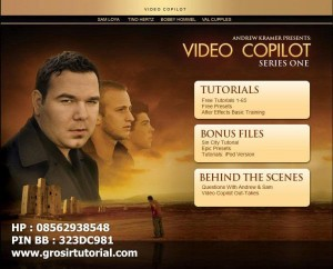 JUAL TUTORIAL AFTER EFFECT VIDEO COPILOT SERIES ONE SPECIAL EDITION
