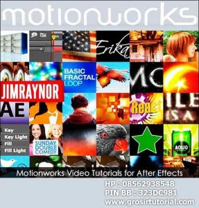57 VIDEO TUTORIALS FOR ADOBE AFTER EFFECTS – MOTIONWORKS