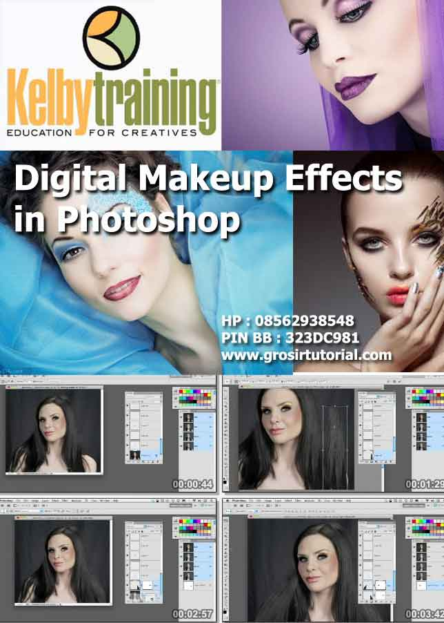 Jual Tutorial photoshop digital makeup effects in photoshop