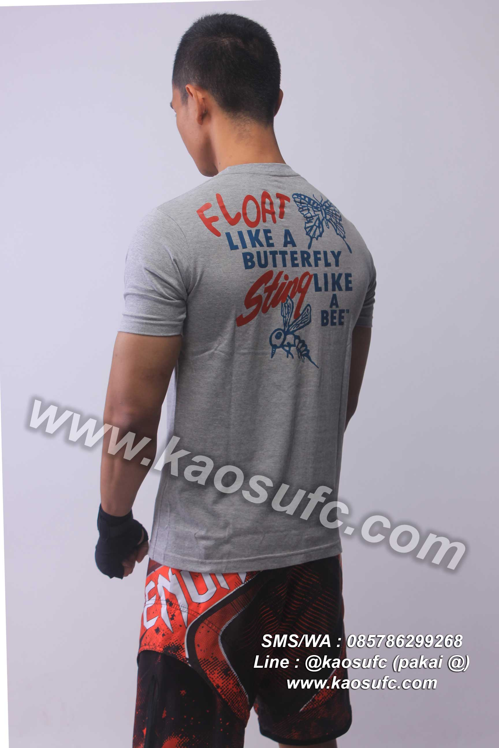Kaos Muhammad Ali Hanzo Fight Gear order via SMS/WA
